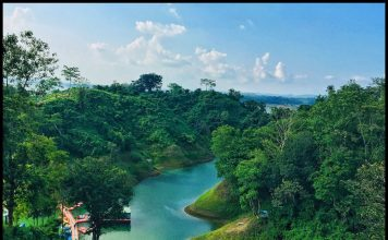 Kaptai lake view