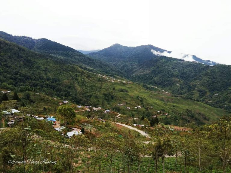 Rolling hills of Gitkolbong